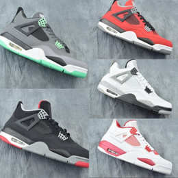 b2d6e1ce5bf149 Good Quality 4 Green Glow Toro Bravo Man Designer Basketball Shoes Comfort  IV Red White Black Cement Grey Fashion Sports Sneakers With Box