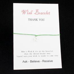 $enCountryForm.capitalKeyWord Australia - Wish Bracelet With Gift Card alloy stars Adjustment Bracelets Bangles for friendship gifts