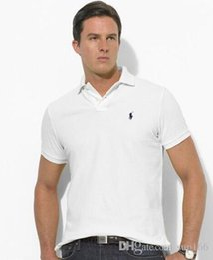 Hot luxo Nova Marca crocodilo Camisa Polo Homens de Manga Curta Camisas Casuais do Homem Sólida camisa clássica t Plus Camisa Polo venda por atacado