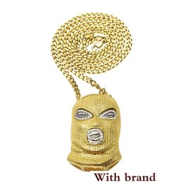 $enCountryForm.capitalKeyWord Australia - Hop CSGO Pendant Necklace Mens Punk Style 18K Alloy Gold Silver Plated Mask Head Charm Pendant High Quality Cuban Chain