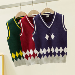 Branded Baby Kids Clothes Australia - 2019 High Quality Fashion New Brand kids Sweater baby clothes fashion Spring autumn winter Pure cotton knitted Boys And Girls 3colour