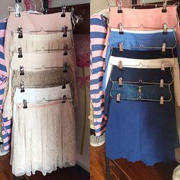 $enCountryForm.capitalKeyWord Australia - Family Heavy Duty 6 Tiers Skirt Pants Clothes Hanger Metal Foldable Organizer Modern Hanger Clothes SY0027