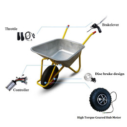 Wholesale motors resale online - Electric Wheelbarrow Gear Motor quot v36v48v w350w500w N M Electric Wheelbarrow wheel Kit Fat OffRoad Trolley Wheelchair