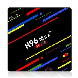 Wholesale Original H96 MAX+ plus 4GB 32GB RK3328 Android 9.0 TV Box 4k 2.4G 5G wifi Bluetooth4.0 Media Player 10