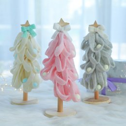 pearl tree NZ - Nordic 3D Christmas Tree Decoration Handmade Felt Pearl Christmas Tree Ornament DIY Home Desktop Decoration