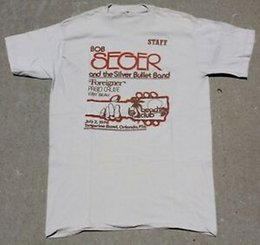 Silver Bobs Australia - RARE VINTAGE 1978 TANGERINE BOWL BOB SEGER THE SILVER BULLET BAND STAFF T-SHIRT