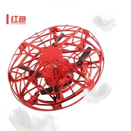 $enCountryForm.capitalKeyWord Australia - Three Colors UFO Flying Toys Gravity Defying Hand-Controlled Suspension Helicopter kids Toy Infrared Induction Quadcopter UFO Free Shipping