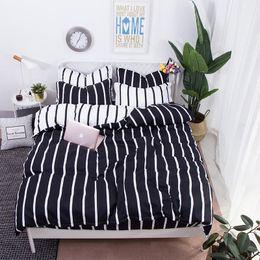california king beds 2019 - Nordic modern printing sanding AB version aloe cotton small fresh 4 sets of environmentally friendly comfortable bedding