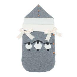 $enCountryForm.capitalKeyWord Canada - Baby Cartoon knitted Sleeping Bag Winter Warm Sleepsacks Robe for Infant Wheelchair Envelopes for Newborns ins Stroller Sleeping Bag