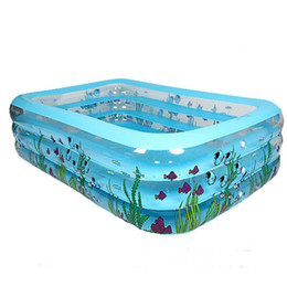 Swim pool family online shopping - High Quality Adult Family Children s Inflatable Swimming Pool Home Use Printed Rectangular Pool Paddling Size cm