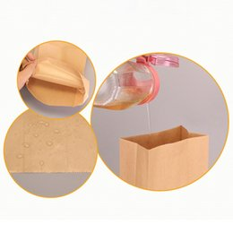 spice packaging bags Canada - 100Pcs Kraft Paper Bag Gift Bag Candy Biscuit Bread Nut Bag Biscuit Snack Baking Packaging Supplies