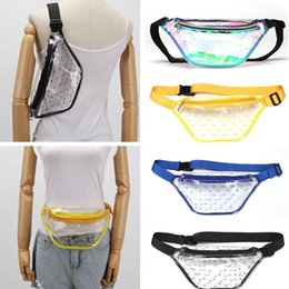 $enCountryForm.capitalKeyWord Australia - Laser Color Clear Fanny Pack Transparent TPU Waist Bags B Letters Print Cash Purses Pouch Sports Women Messenger Bag Men Chest Bags C71701
