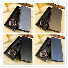 Matrix Boxes Australia - Wholesale free shipping Top quality new brand big Blue jewelry brown classic elegant leather strap luxury watch box matrix boxes packaging
