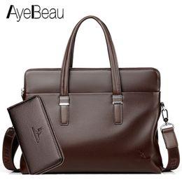 Computer Hand Bags NZ - Hand Work Business Office Genuine Leather Male Messenger Bag Men Briefcase For Document Laptop Computer Tablet Handbag Portfolio
