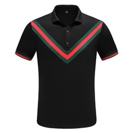 bamboo polo UK - 18ss Designer Mens Polo Shirts Summer Luxury Polo Mens Shirt Loose Breathable Letter Print Fashion Casual Style Brand Shirt M-3XL