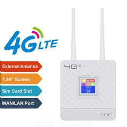 Router Suporte 2.4G 4G LTE Wifi Router CPE para 20 usuários com cartão SIM slot Wirelss Wired em Promoção