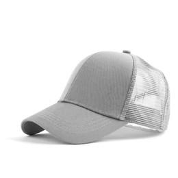 5a338b8a225ae Women s Summer Baseball Caps Messy High Bun Ponytail Adjustable Mesh  Trucker Cap Hat Adjustable Unstructured Plain Solid Sunhat