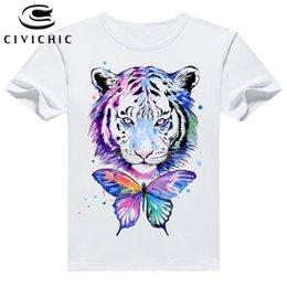 $enCountryForm.capitalKeyWord NZ - Civi Chic Plus Size Summer T Shirt Woman Loose Short Sleeve Tops Man Tiger Head Print Tshirt Round Collar Vintage T-shirt Wst113 Y190627