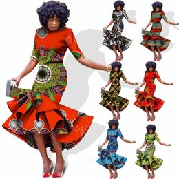 $enCountryForm.capitalKeyWord NZ - Cocktail Party African Dresses Dashikis Dress Dashiki Summer Vestidos Print Trumpet Mermaid Dress African Fashion Custom Clothing Wax Fabric