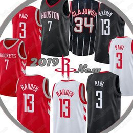 80444d372b60 Houston James 13 Harden jersey Rockets Hakeem 34 Olajuwon jerseys Carmelo 7  Anthony Chris 3 Paul jerseys Basketball Jerseys