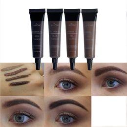 $enCountryForm.capitalKeyWord Australia - Wholesale Eyebrow Gel 4Color 3D Silk Fiber Eyelash Mascara Long-lasting Waterproof Sweat Proof Eye Brow Makeup Dye Cream Tint Enhancer Brows