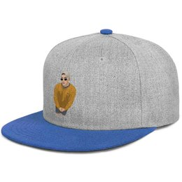 China Bad Bunny cartoon image for men and women flat brim hats blue snapback designer hats custom kids make your own custom your own blank cheap brimmed hats for kids suppliers