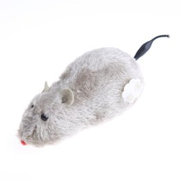 Funny Play Toys Mouse NZ - Creative Winding Mechanism Mouse Toy for Cat Dog Pet Trick Playing Plush Motion Rat Pets Supplies Funny Cat Toys