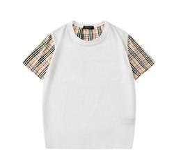 Venta al por mayor de Yuog-467 Paris Marca T Shirt Moda Marea T Shirt Para Hombres Camisas Carta Imprimir Casual Hombres Mujeres Cuello Redondo Tee