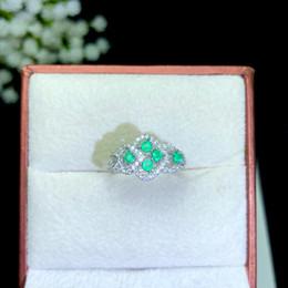 Großhandel Natürliche Smaragd Ringe König der natürlichen grünen Edelstein Rundschliff Multi-Edelstein Mosaik kann Birthstone für Geburtstagsgeschenk