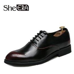 $enCountryForm.capitalKeyWord Australia - She ERA Men Shoes Soft Leather Men's Business Shoes Comfortable Man Footwear Retro Brand Dress for Men Oxfords
