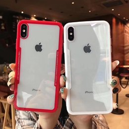 Designs For Iphone Cases Australia - Newest Arrival acrylic Soft Simulated glass Cases For IPhone XS,XS Max XR X 8 7Plus 6S Anti Shock Cradle Design