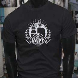 $enCountryForm.capitalKeyWord NZ - Vape All Seeing Eye Vaping Vaporizer Juice Smoke Mens Black T-Shirt T-Shirt Men Design Short Sleeve Fashion Custom 3XL Teenager T Shirts