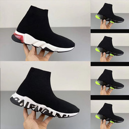 Wholesale men's toe socks for sale - Group buy 2020 designer shoes speed coach platform casual three pairs of socks red blue white flat fashion men s shoes women s shoes fashion size