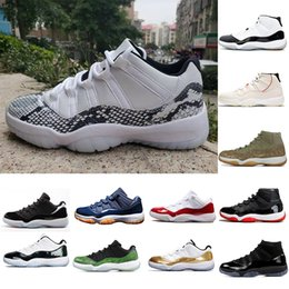 olive shoes NZ - Newest Snakeskin - White Concord Rook To Queen 11 11s Basketball Shoes Platinum Tint Cap And Gown Olive Mens Women Trainers Sneakers