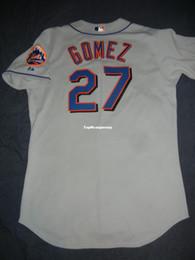 b76bfae3c Cheap Retro Top New Majestic  27 CARLOS GOMEZ NEW YORK Jersey Grey DeGrom Mens  Stitched Baseball jerseys