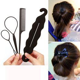 $enCountryForm.capitalKeyWord Australia - 4pcs Ponytail Creator Styling Tools Pony Tail Clip Hair Braid Maker Styling Tool hair curler French Roller clip Tool Bun