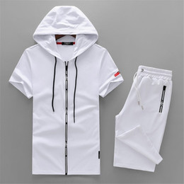 $enCountryForm.capitalKeyWord Australia - 2019 New Pattern Man Tracksuit Lapel And Short Sleeve Motion 91 Trousers Korean Edition Embroidery Leisure Sports Suit
