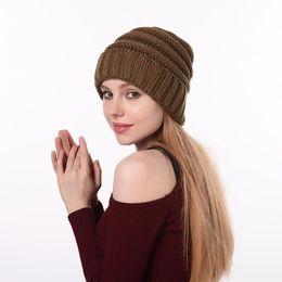 $enCountryForm.capitalKeyWord Canada - Women Knitted Beanie 17 Colors Solid Outdoor Warm Hats Winter Knit Crochet Knitting Skullies Beanies Cap LJJO7083