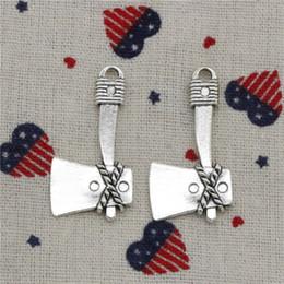 $enCountryForm.capitalKeyWord NZ - 56pcs Charms axe ax 41*21mm Pendant, Tibetan Silver Pendant,For DIY Necklace & Bracelets Jewelry Accessories