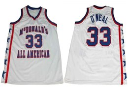 4d1a811de586 McDonald s All American Shaq Shaquille O Neal  33 Retro Basketball Jersey  Mens Stitched Custom Any Number Name Jerseys