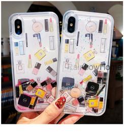 $enCountryForm.capitalKeyWord Australia - Lipstick Perfume Bottle Dynamic Liquid Quicksand Sequins Phone Cases Shockproof For iPhone XR XS Max X 8 S10 Plus Huawei Mate 20 P30 Lite