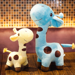 dolls wholesalers NZ - Baby kid gift plush toy birthday wedding animal doll gift soft giraffe dear child toy