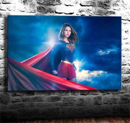 $enCountryForm.capitalKeyWord Australia - Supergirl Season 3, Melissa Benoist,1 Pieces Canvas Prints Wall Art Oil Painting Home Decor (Unframed Framed) 24X36.