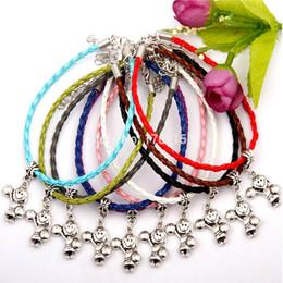 $enCountryForm.capitalKeyWord Australia - Hot Antique Silver Cheerleading Girl Charm Pendant 20+5CM Multicolor Leather Rope Bracelet High Quality Jewelry Braided Rope Bracelet