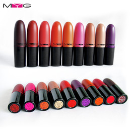 China MYG lips makeup Top Quality Cosmetics 9 Colors velvet teddy Lipstick Waterproof Lips Long-Lasting Moist Lipstick Matte Lipstick Makeup suppliers