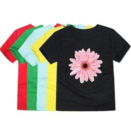 $enCountryForm.capitalKeyWord Australia - Tinoluling Girls Fashion Floral T Shirts Cotton Summer Short Sleeve Girl Flower Cartoon Tops Children Tees Kids T-shirts