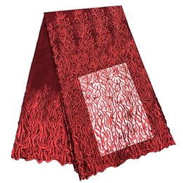 Chinese  High Quality Embroidery African Lace Fabric Tulle Rhinestone Net French Lace Guipure Nigerian Lace Fabric Swiss Voile manufacturers