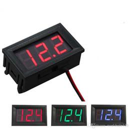 Battery Volt Tester Australia - 0.56 Inch DIY Mini Voltmeter Tester Digital Voltage Test Battery DC 4.5-30V Red Green Blue for Auto Car LED Display Gauge Car Accessories