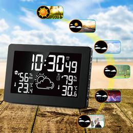 $enCountryForm.capitalKeyWord Australia - 7.5 Inch VA Big Screen Display Temperature Humidity Radio Wave Clock Weather Forecast Clock Double Alarm Clocks Function EU Plug