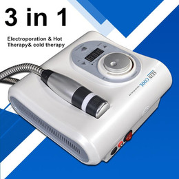 $enCountryForm.capitalKeyWord NZ - Cryo Heating Therapy Skin cool Electroporation Needle Free Mesotherapy Machine Hot Cold Hammer Facial Anti Aging Skin Care Beauty Device